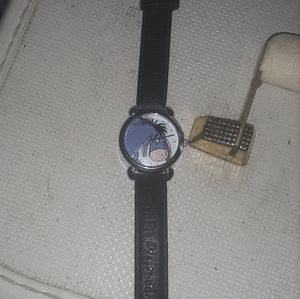 Pooh Eeyore Timex Watch Leather Band Cute